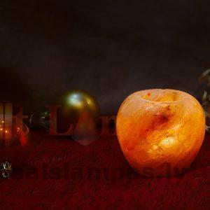 Noslīpētais sāls kristāla svečturis
