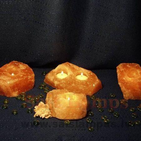 Sāls kristāla svečturi