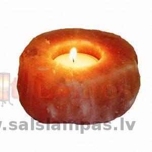 Sāls kristāla svečturis 1 tējas svecei