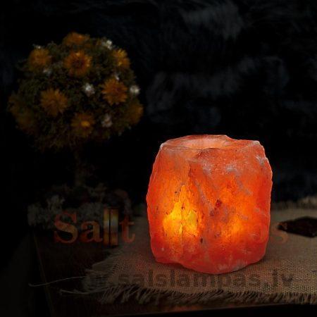 Подсвечник для 1 плошки из кристалла соли. Большой