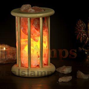 Солевая лампа «Деревянный фонарь»
