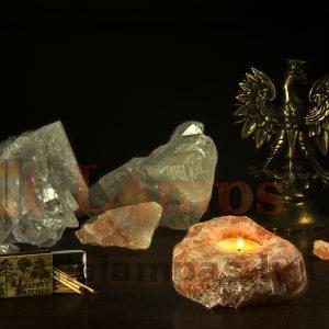 Подсвечник для 1 плошки из кристалла соли